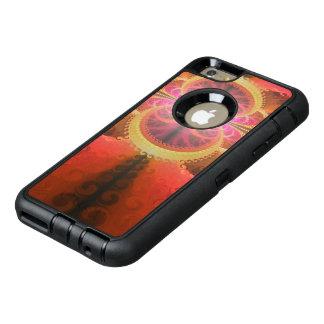 Un bel éclat de fractale de couleurs liquides de coque OtterBox iPhone 6 et 6s plus