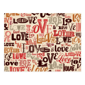 Un bon nombre d'amour vintage carte postale