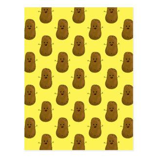 Un bon nombre de pommes de terre heureuses carte postale