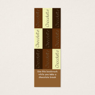 Un bon nombre de signet de chocolat mini carte de visite