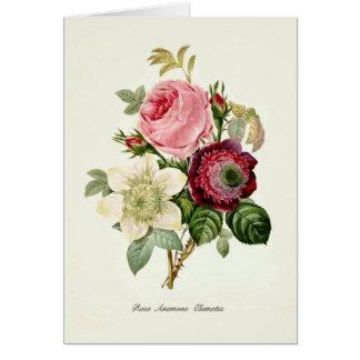 Un bouquet des fleurs carte de vœux