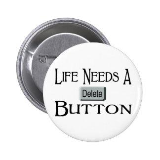 Un bouton de suppression badge