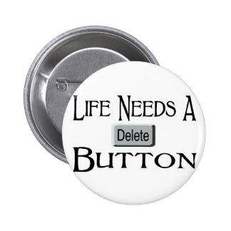 Un bouton de suppression badges