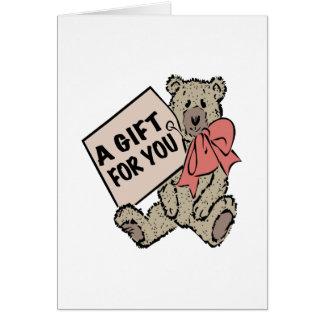 Un cadeau pour vous carte de vœux