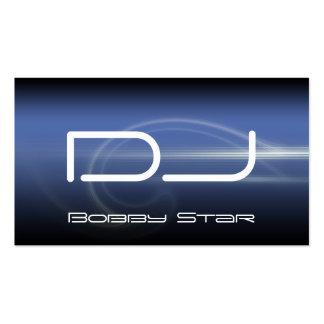 Un carte de visite moderne de laser de bleu du DJ