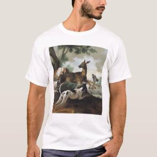 Un cerf commun chassé par des chiens, 1725 t-shirt