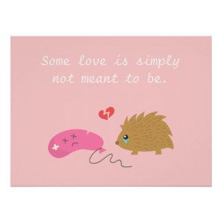 Un certain amour n'est pas censé pour être, hériss
