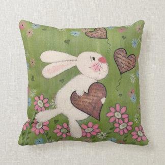 Un certain lapin vous aime - art d'enfants de oreiller