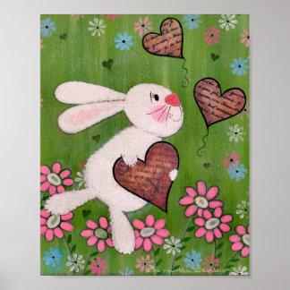 Un certain lapin vous aime - art d'enfants de posters