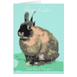 Un certain lapin vous aime carte de Pâques