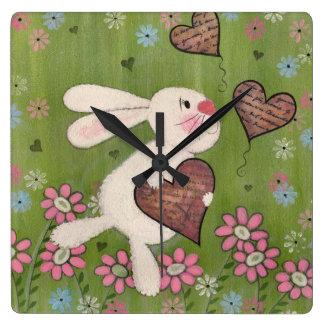 Un certain lapin vous aime - horloge murale