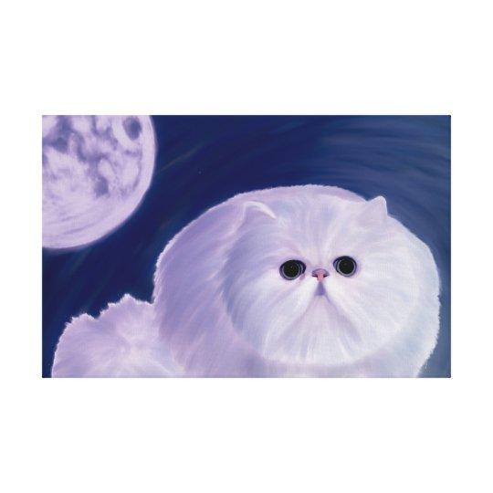Un chaton persan gras numériquement peint à la toiles