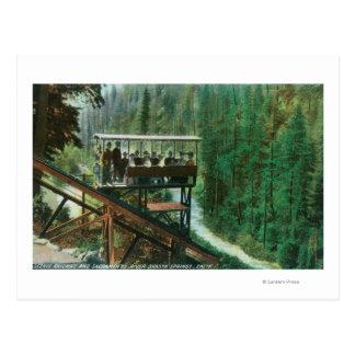 Un chemin de fer pittoresque le long du fleuve carte postale