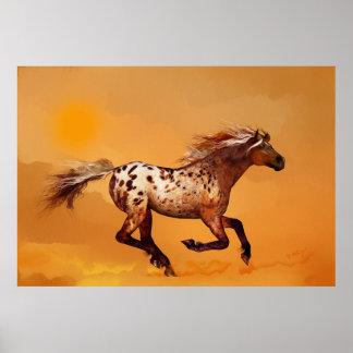 Un cheval a appelé Ginger Poster