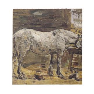 Un cheval buvant par Eugene Boudin Bloc Mémo