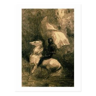 Un chevalier, c.1885 carte postale