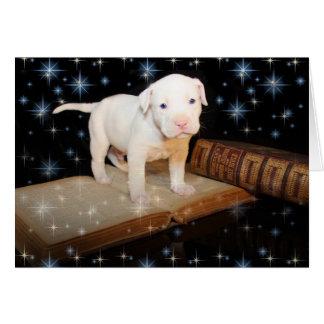 Un chien a lieu pendant la vie, pas simplement carte de vœux