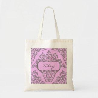 Un choix doux de rose et de gris sac