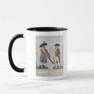 Un citoyen prêt à combattre et un citoyen mugs