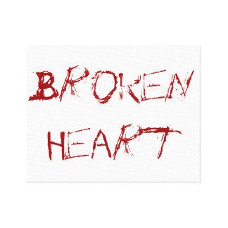 Un coeur brisé impressions sur toile