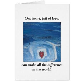 Un coeur cartes de vœux