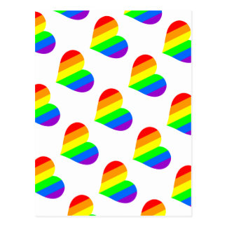 Un coeur dans des couleurs d'arc-en-ciel cartes postales