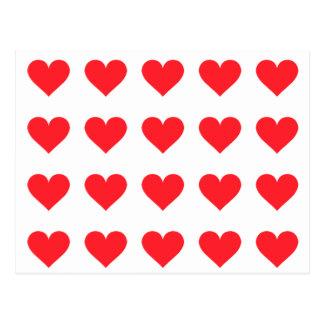Un coeur de l'amour et de l'affection carte postale
