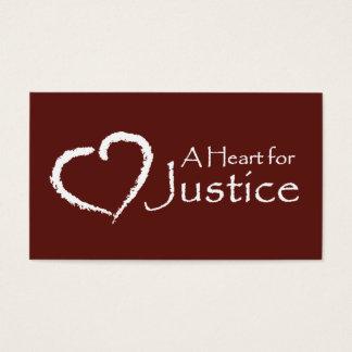 Un coeur pour des cartes de justice (rouge foncé)