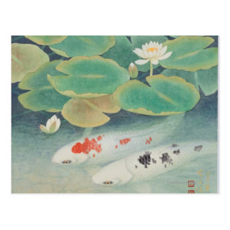 Un couple sous Lotus Carte Postale