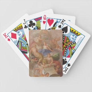 Un croquis de gratitude couronné par paix, avec au jeux de cartes