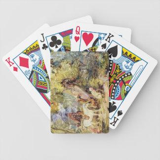 """Un croquis pour des """"forestiers égrappant des cerf cartes à jouer"""