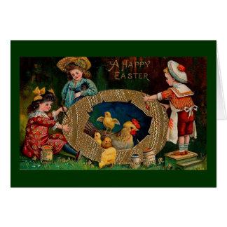 Un cru heureux Pâques de Pâques Cartes De Vœux