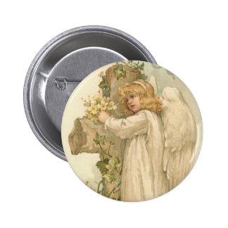 Un cru joyeux Pâques d'ange de Pâques Badge
