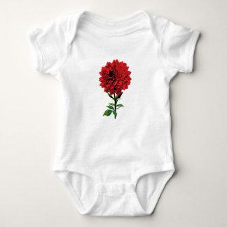 Un dahlia rouge Onsie/plante grimpante infantiles Body