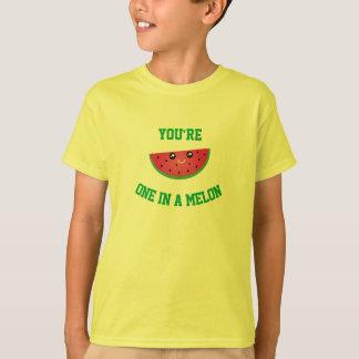 Un dans une pastèque mignonne drôle de Kawaii de T-shirt