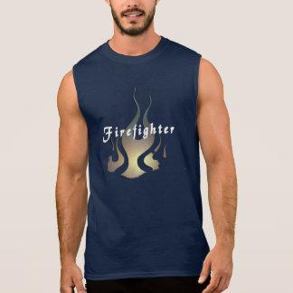 Un décalque de sapeur-pompier t-shirt sans manches