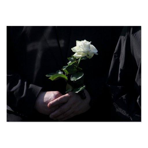 Un dernier rose blanc cartes de visite personnelles