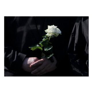 Un dernier rose blanc carte de visite grand format