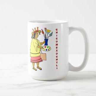 Un dieu de patron de Chicomexochtli de tasse