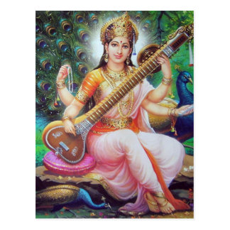 un dieu indien carte postale
