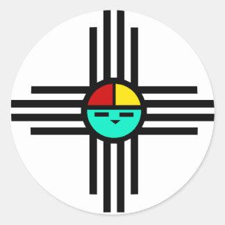 Un dieu soleil de Zia Sticker Rond