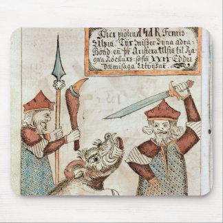 Un dieu Tyr des norses perdant sa main au loup att Tapis De Souris