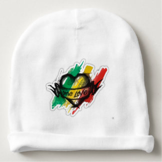 un drapeau de graffiti de reggae de rasta d'amour bonnet de bébé