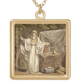 Un druide de voûte dans son habitude juridique, gr pendentif carré