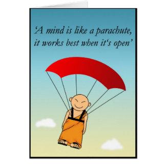 Un esprit est comme un parachute… carte de vœux