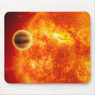 Un exoplanet gaz-géant tapis de souris
