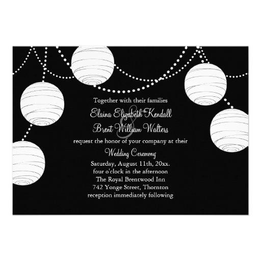 un faire part de mariage noir et blanc de carton d 39 invitation 12 7 cm x 17 78 cm zazzle. Black Bedroom Furniture Sets. Home Design Ideas