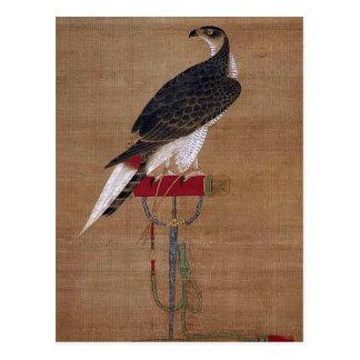 Un faucon - rouleau coréen du 16ème siècle carte postale