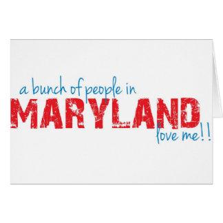 Un groupe de personnes dans le Maryland m'aiment ! Carte De Vœux