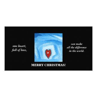 UN HEART/CHRISTMAS PHOTOCARTES